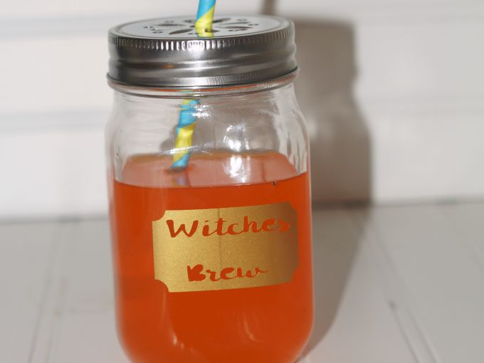 witches brew mason jar mug