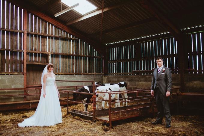 Wedding party with calves - Original Wedding Venue Ideas