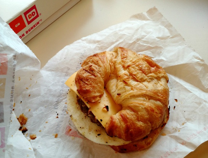 dunkin donuts croissant