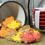 Mini Fall Leaf Decorated Copycat Lofthouse Sugar Cookies