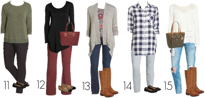 Nordstrom Mix and Match wardrobe 11-15