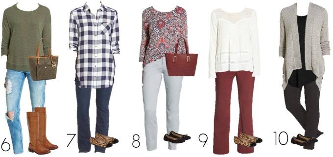 Nordstrom Mix and Match wardrobe Fashion 6-10