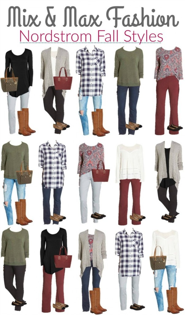 Nordstrom Mix and Match wardrobe outfits