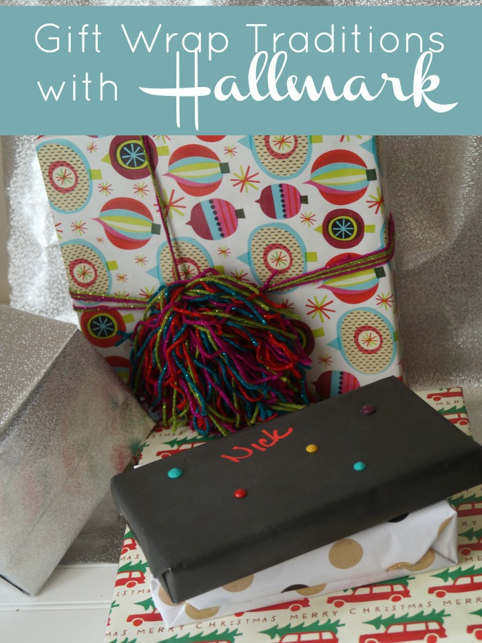 gift wrap traditions with Hallmark