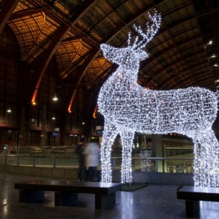 light up giant reindeer