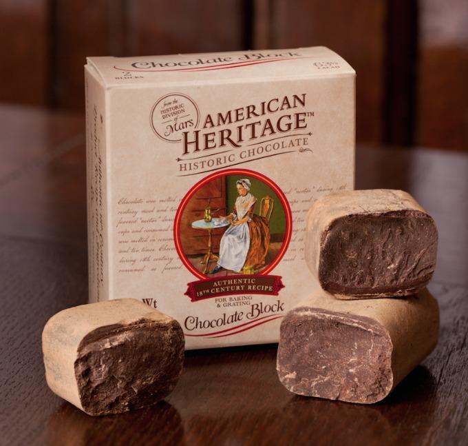 American heritage chocolate block