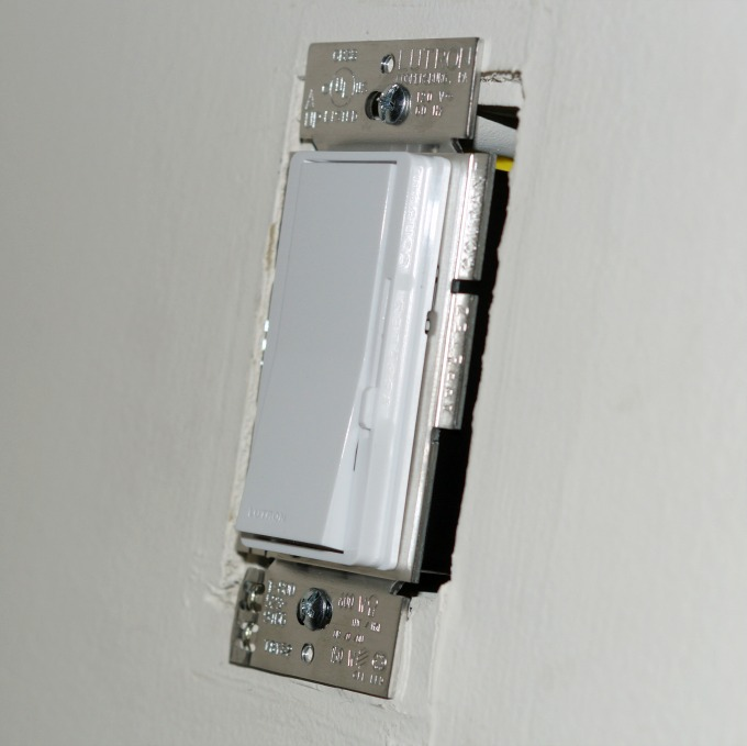 dimmer switch installed