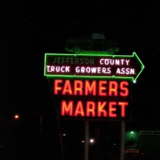 farmers market neon sign