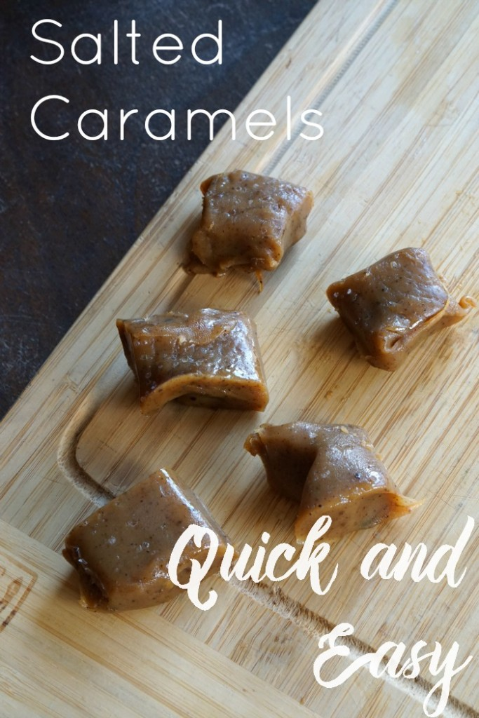 Quick and easy salted caramels