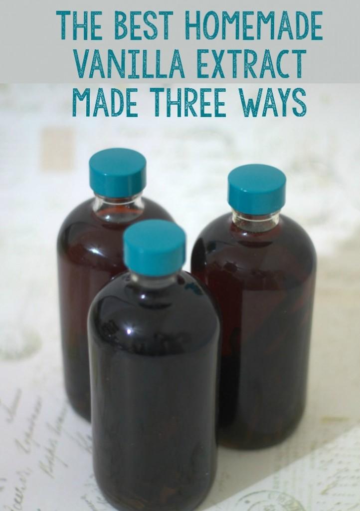 The best homemade vanilla extract made three ways