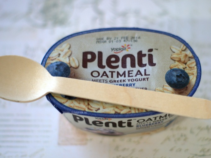 plenti oatmeal with spoon