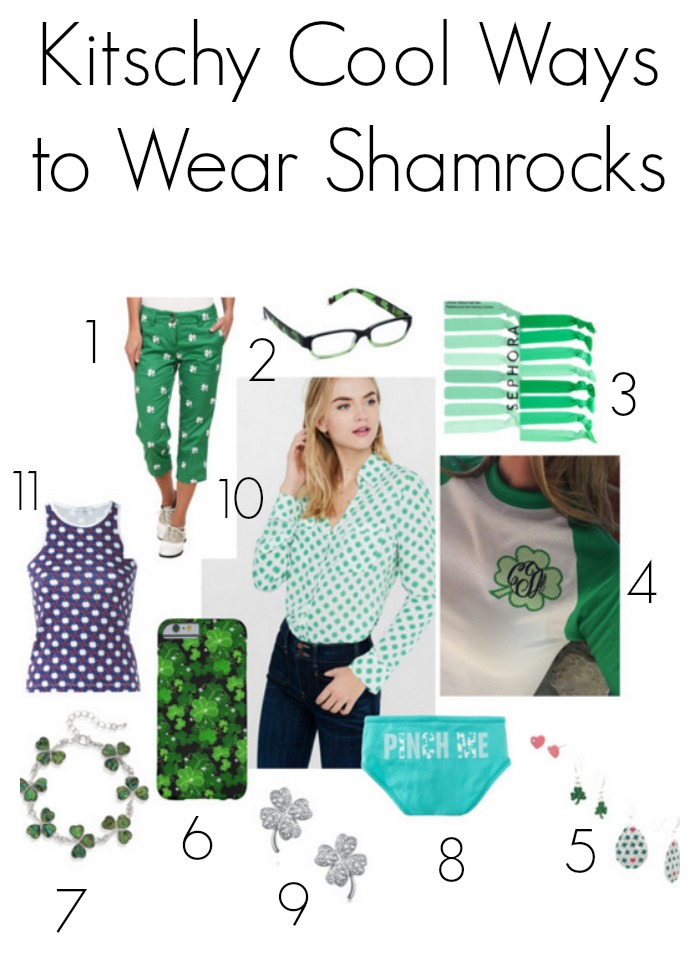 Kitschy cool ways to wear shamrocks