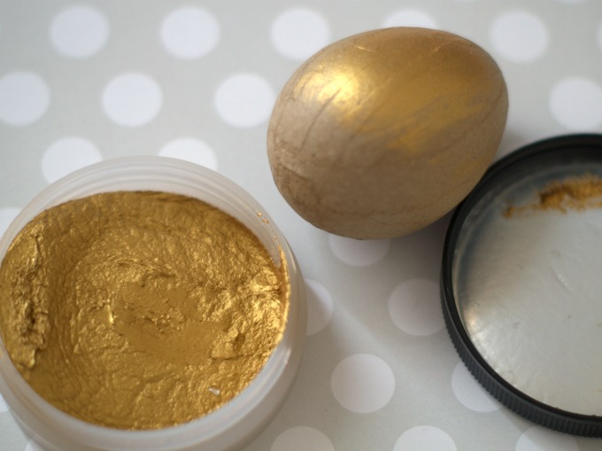 half gilded gold egg