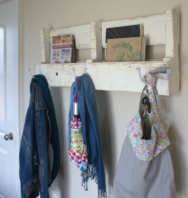 wood pallet coat rack and shelf