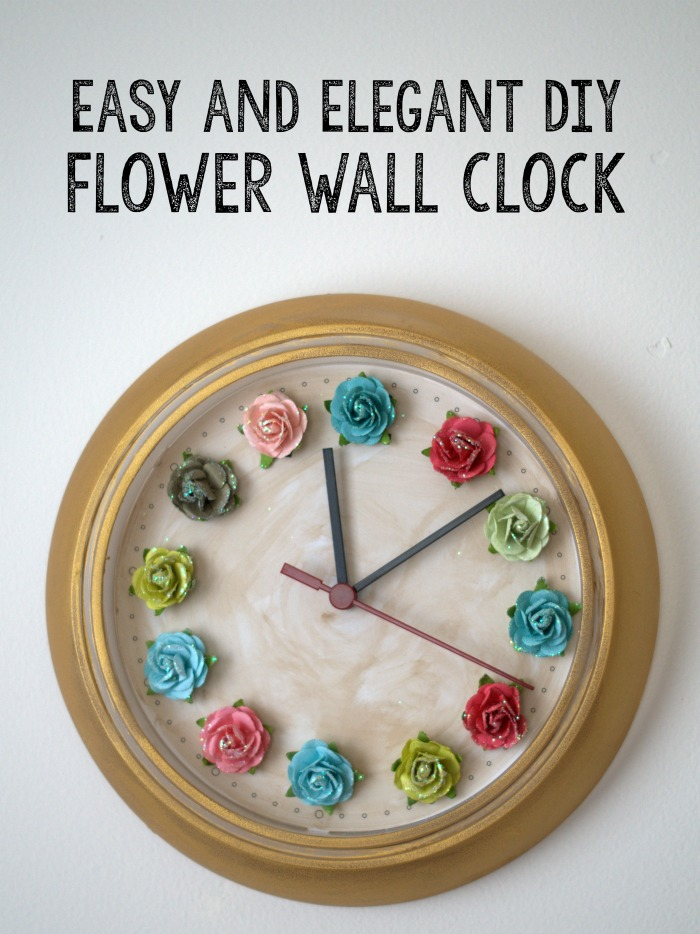 Make this easy and elegant DIY flower wall clock today!