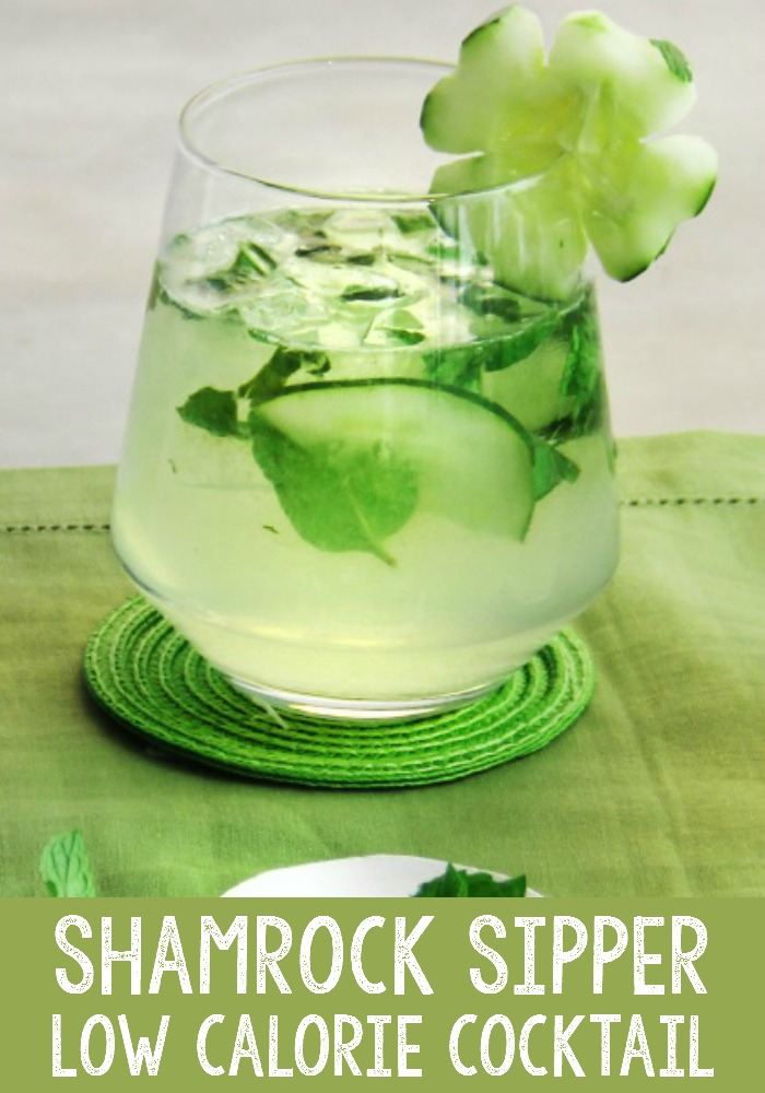 Shamrock Sipper Low calorie cocktail