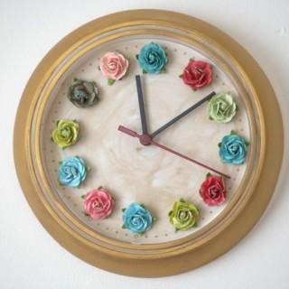 DIY flower wall clock
