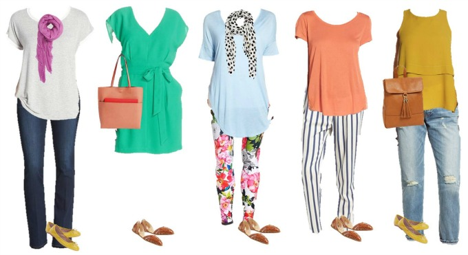 Nordstrom colorful spring Mix and Match Fashion 6-10