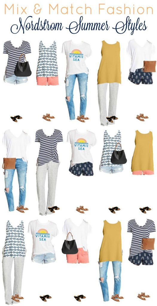 Nordstrom capsule wardrobe for summer