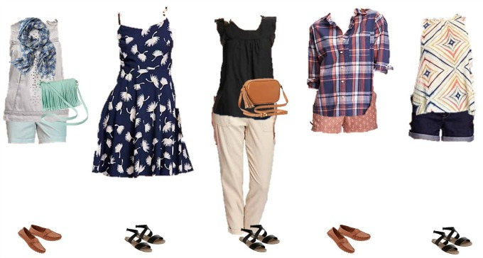 Old Navy Summer Mix and Match Wardrobe