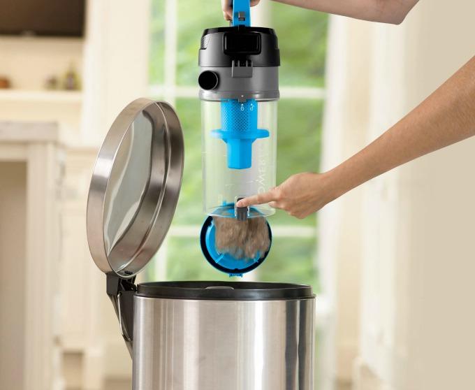 bissell powerforce helix vacuum easy dump dirt cup