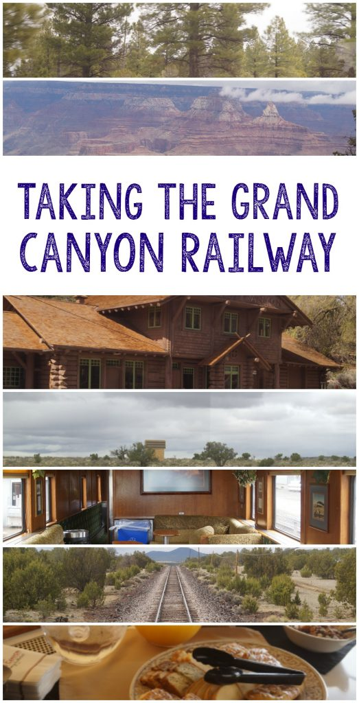 Taking the Grand Canyon Railway train