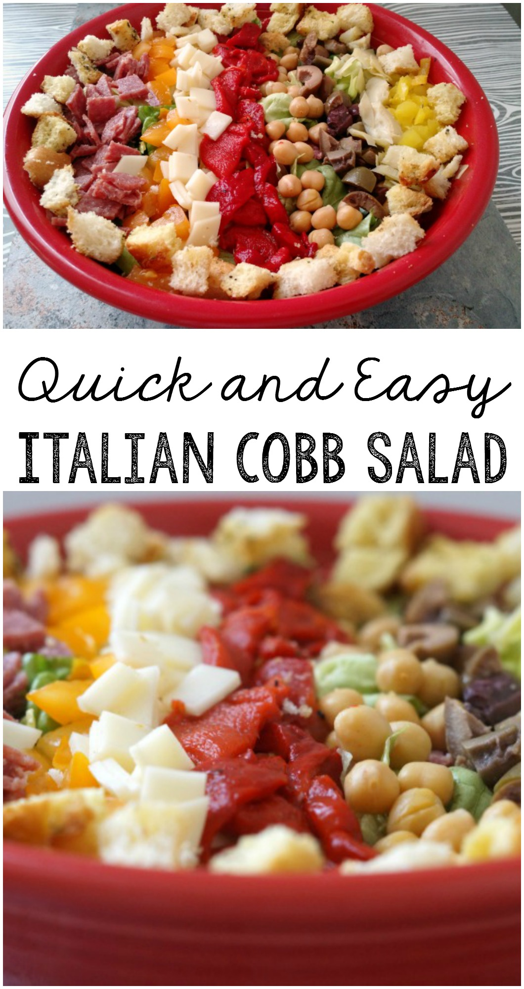 Celebrate with a Quick and Easy Delicious Italian Cobb Salad