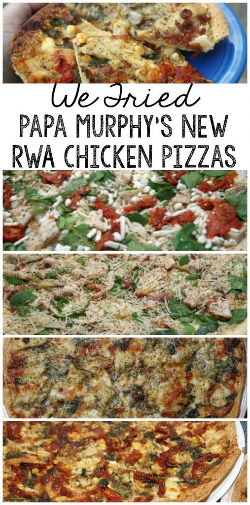 We tried Papa Murphys new RWA Chicken Pizzas