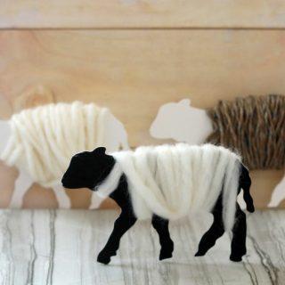 Adorable fluffy lamb ornaments