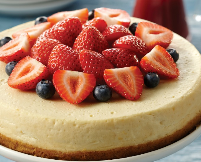 classic cheesecake made in an instant pot pressure cooker
