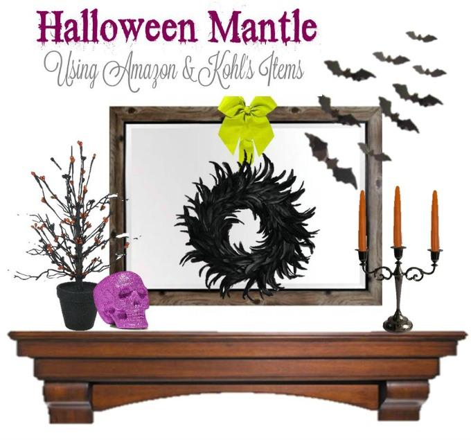 Halloween Mantel Decor idea