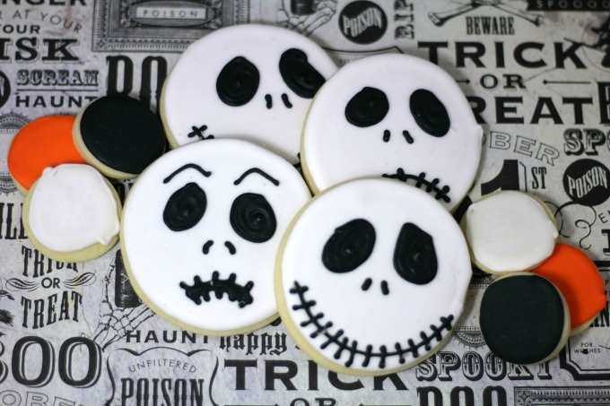 Jack Skellington Nightmare before Christmas decorated cookies