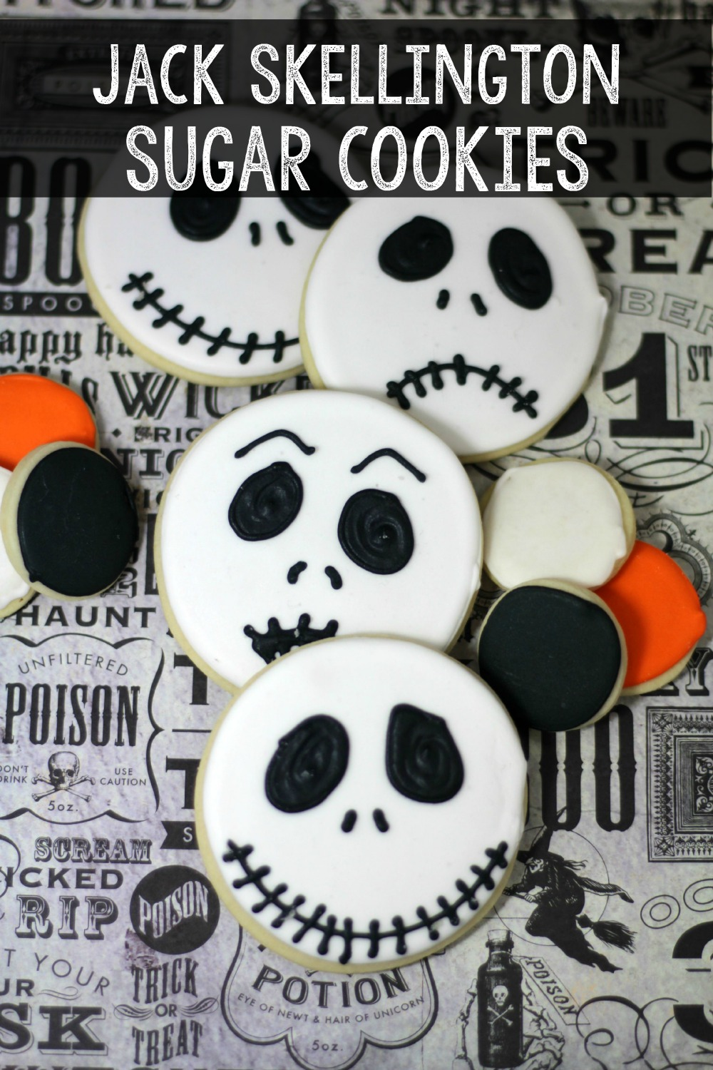 jack skellington decorated sugar cookies - Jack Skeleton Christmas Decorations