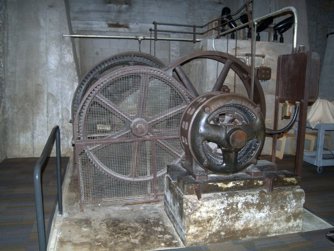 Antique air filtration system and flour bag packer.