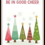 Get this Retro Chic Be in Good Cheer Free Christmas Printable