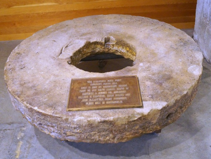 Millstone from Minneapolis' original flour mill