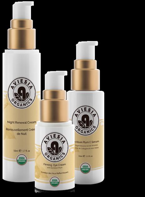 aviesia organic skincare products