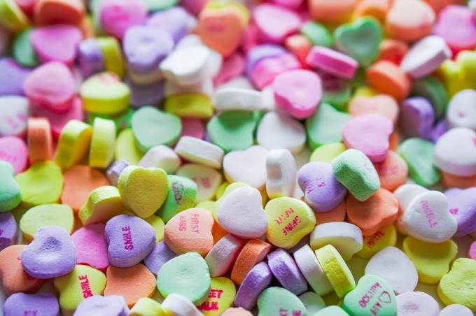 Stock photo of converaation hearts