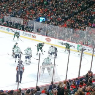 Minnesota Wild face off vs Dallas Stars