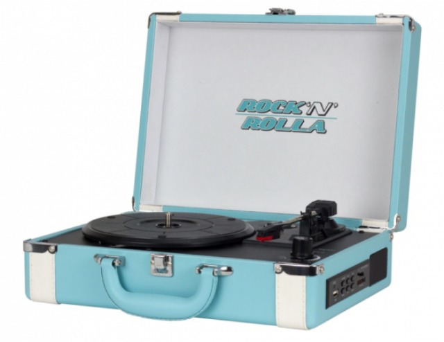 Rock N Rolla briefcase record player with MP3 capabilities