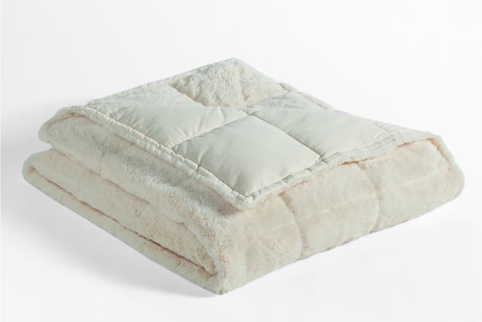 Get toasty with this snuggly soft down throw.