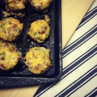 How to make really great cheddar bacon stuffed mushrooms