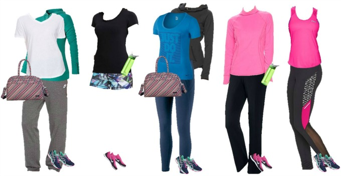 Kohls workout wear capsule wardrobe 1-5