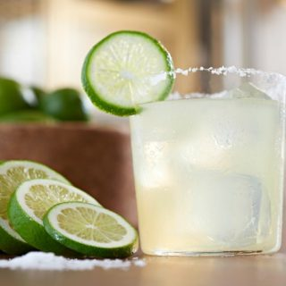 Classic margarita on the rocks recipe.