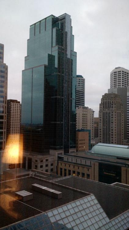 Downtown Minneapolis Skyline view from the Radisson Blu Minneapolis