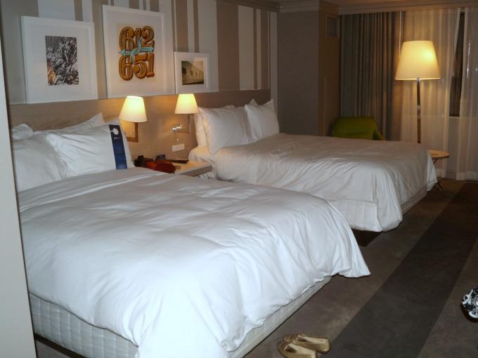 Hotel room at the Radisson Blu Minneapolis