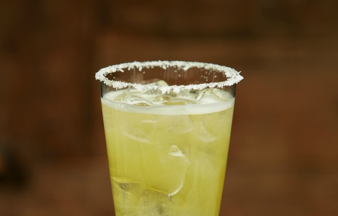 Mexican mule beer cocktail in glass