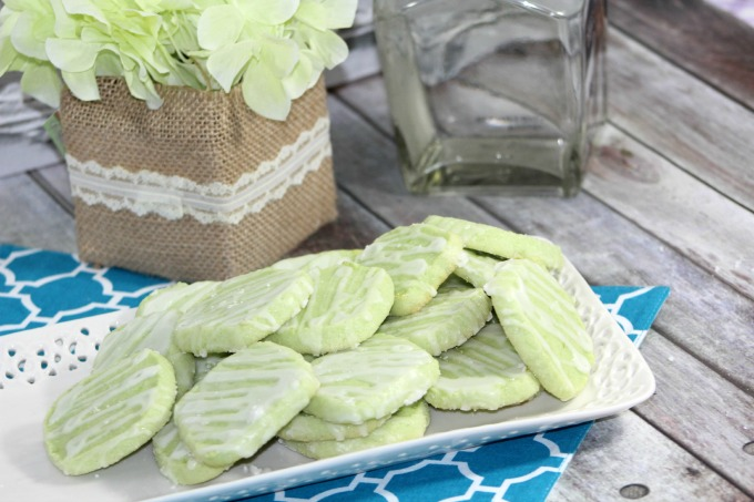 How to make lime margarita cookies with a tequila glaze drizzle