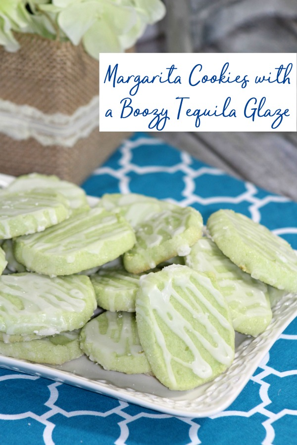 Lime margarita cookies with a boozy tequila drizzle icing recipe