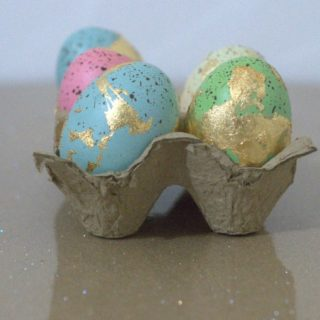 How to Make DIY Gold Leaf Eggs for Easter and Beyond